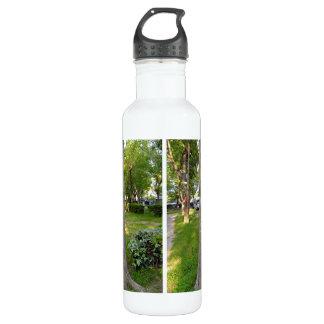 Tree Bark Texture Vertical Stainless Steel Water Bottle