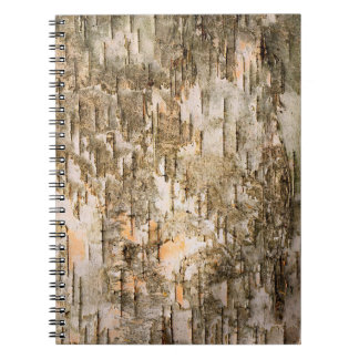 Tree Bark Textured Spiral Notebook