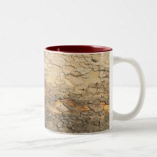 Tree bark Two-Tone coffee mug