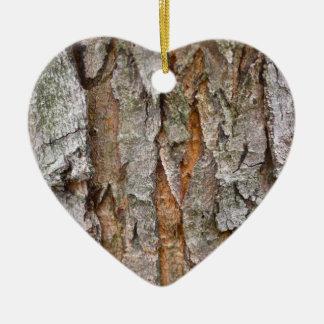 Tree Bark, Wood, Trees Forest Ceramic Ornament