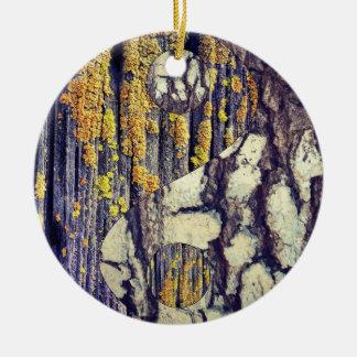 Tree Bark Yin Yang Ornament