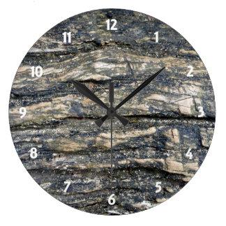 tree barked round clocks