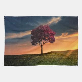 Tree beautiful nature scenery hand towel