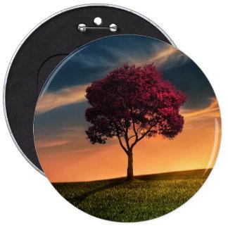 Tree beautiful nature scenery pinback button