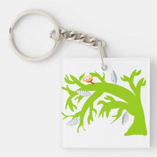 Tree Bends, Does Not Break Keychain