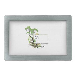 Tree bird frame simpler floral.png rectangular belt buckle