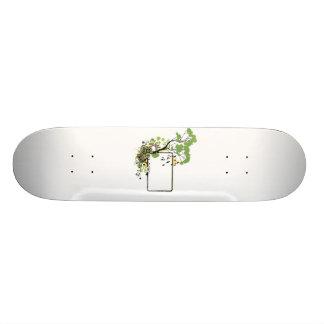 Tree bird frame simpler floral.png skateboard deck