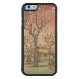 Tree Blossoms Plum Garden Japanese Woodblock Carved Maple iPhone 6 Bumper Case