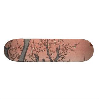 Tree Blossoms Plum Garden Japanese Woodblock Skateboard
