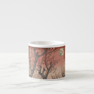 Tree Blossoms Plum Garden Japanese Woodblock Espresso Cup