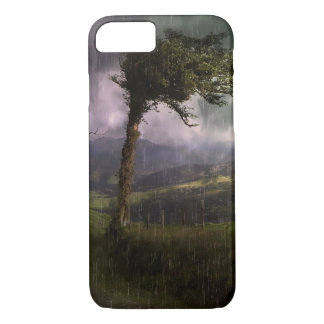 Tree Blowing in the Wind During a Thunder Storm iPhone 7 Case