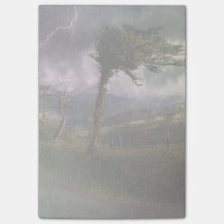 Tree Blowing in the Wind During a Thunder Storm Post-it Notes