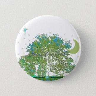 Tree Blues Pinback Button