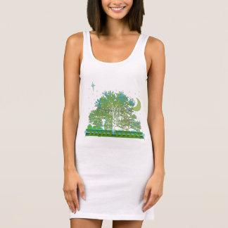 Tree Blues Sleeveless Dress