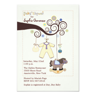 Tree Branch Baby Shower Invitation