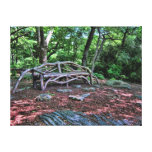 Tree Branch Bench, Central Park NYC Wrapped Canvas Gallery Wrap Canvas