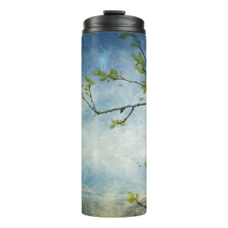 Tree Branch Over Textured Sky Thermal Tumbler