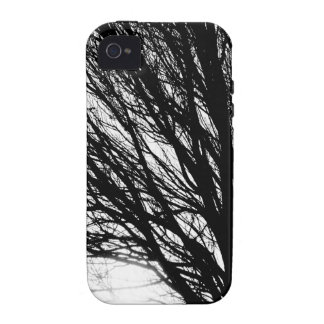Tree Branches and Light Black and White Vibe iPhone 4 Cover