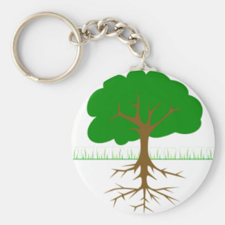 Tree Branches and Roots Keychain