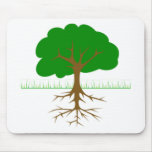 Tree Branches and Roots Mouse Pad