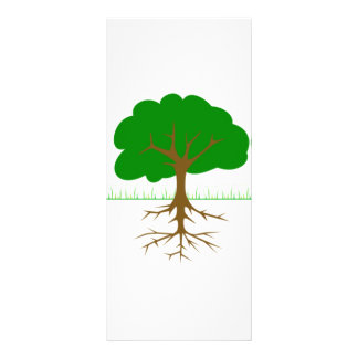 Tree Branches and Roots Rack Card