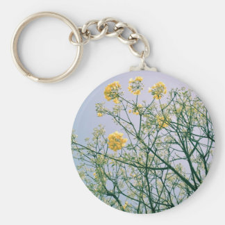 Tree Branches and Yellow Blossoms Key Chain