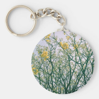 Tree Branches and Yellow Blossoms Keychains