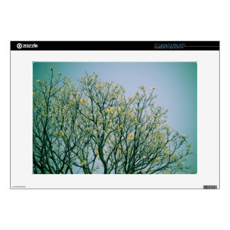 Tree Branches and Yellow Blossoms Laptop Decal