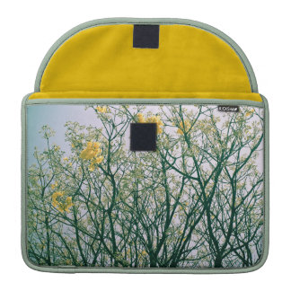 Tree Branches and Yellow Blossoms Sleeve For MacBooks