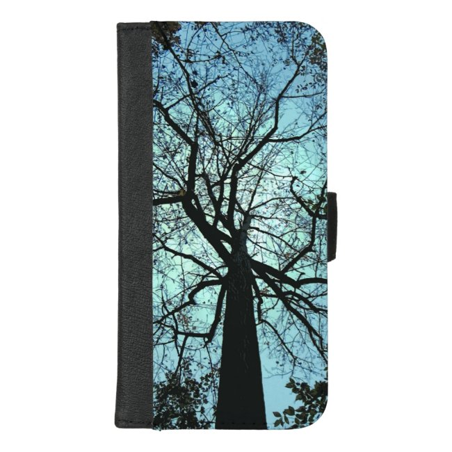 Tree Branches Blue iPhone 8/7 Plus Wallet Case