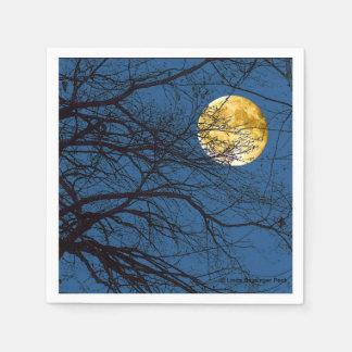 Tree Branches Full Moon Paper Napkin