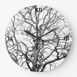 Tree branches large clock
