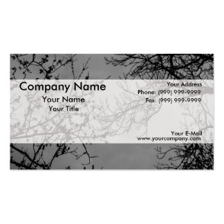 Tree branches on a dark sky. Double-Sided standard business cards (Pack of 100)