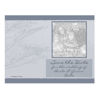 Tree Branches - Save the Date Phot... - Customized Postcard
