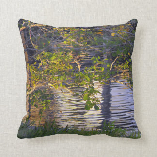 Tree Branches, Sunlight, Reflection Pillow