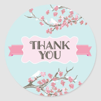 Tree Branches Thank You Sticker
