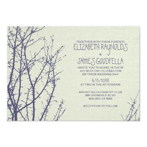 tree branches wedding invitations zazzle With wedding invitations trees branches