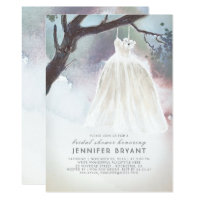 Tree Bridal Shower | Watercolor Wedding Dress Card