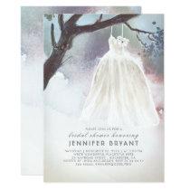 Tree Bridal Shower | Watercolor Wedding Dress Invitation