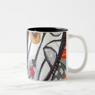 tree bruxa Two-Tone coffee mug