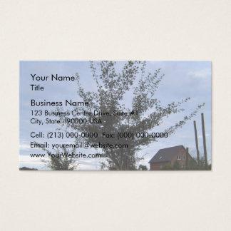 Tree Bush against the blue sky Business Card