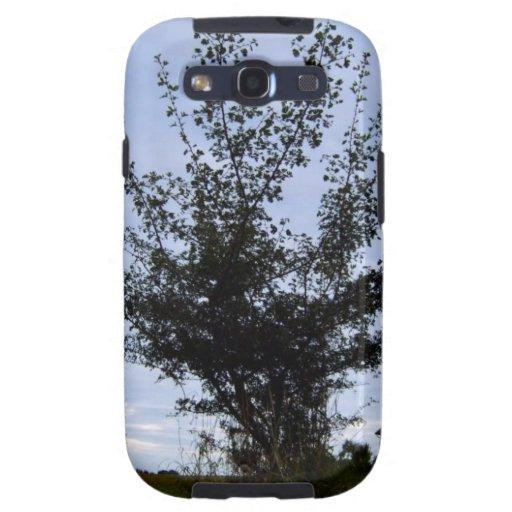 Tree Bush against the blue sky Samsung Galaxy SIII Cases