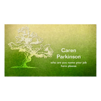 tree business card standard business cards