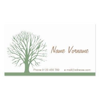 Tree Double-Sided Standard Business Cards (Pack Of 100)