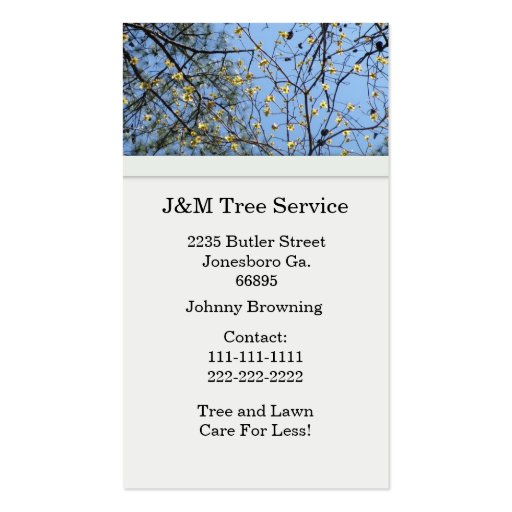 Tree Business Card (front side)