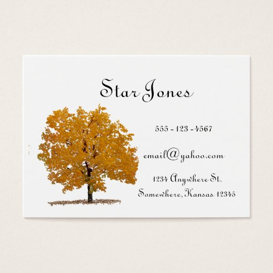 Tree Businesss card
