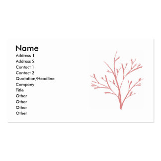 Tree by Jenny Arder Double-Sided Standard Business Cards (Pack Of 100)