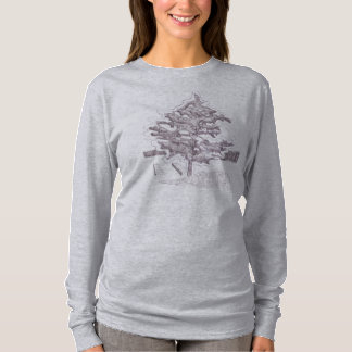 Tree by Lake Long Sleave Women's Shirt