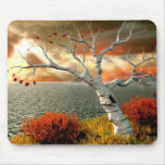 Tree by the Ocean Mouse Pad