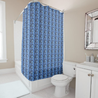 Tree Canopy against a Blue Winter Sky - ECHO PRINT Shower Curtain